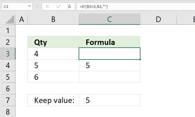 If function keep value