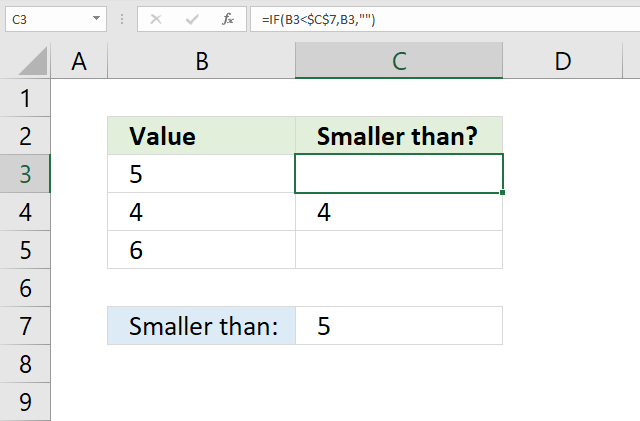 If function smaller than 2