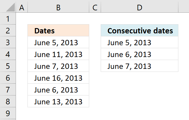 Consecutive dates 1