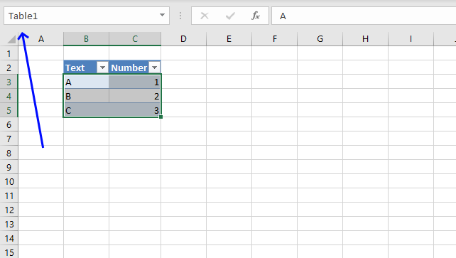 locate an Excel Table in a workbook