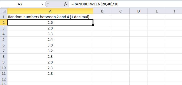 generate random numbers1