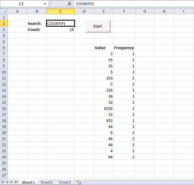 count text in formulas vba
