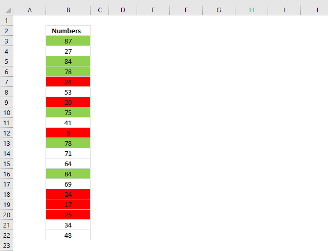 Count cells based on background color Excel 365