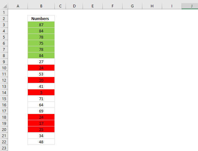 Count cells based on background color put selected cell color on top