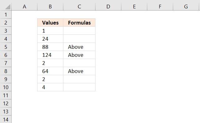 Delete formulas returning blanks