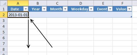 pivot table calendar