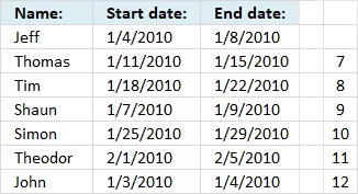 Identify rows of overlapping records array1