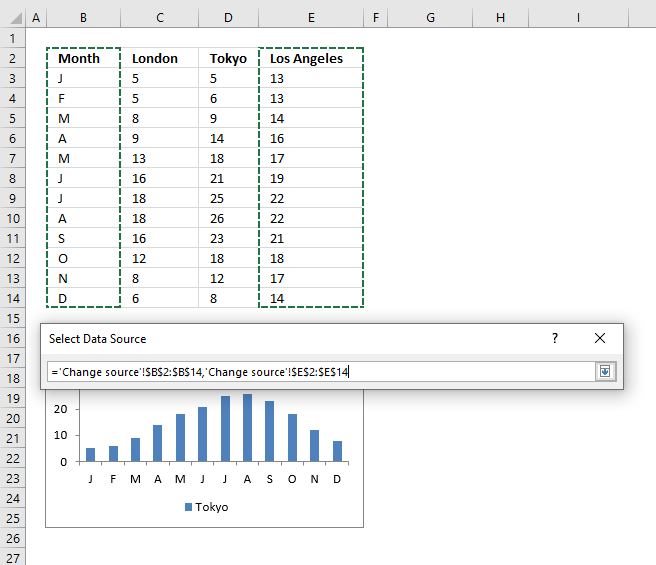 Quickly change data source Select Data Source1