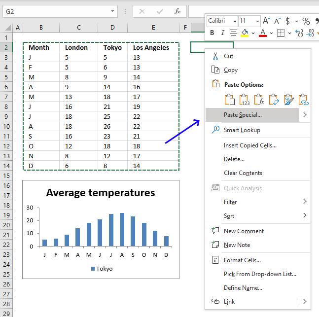 Quickly change data source transpose data