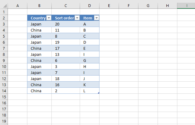 Lookup and return multiple sorted values based on corresponding values in another column excel table