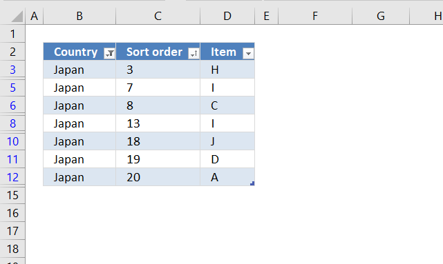 Lookup and return multiple values sorted in a custom order Excel Table