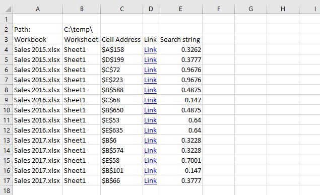 Search all workbooks in a folder