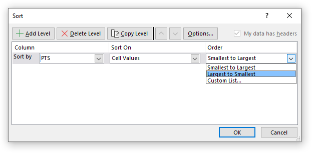 Sort by multiple columns custom sort settings1