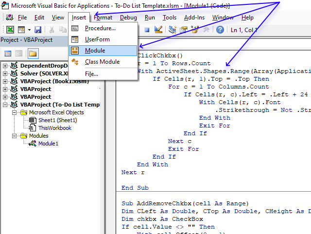 Multi level todo list where to put the code