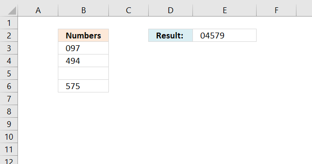 Sort and return unique distinct single digits from cell range3