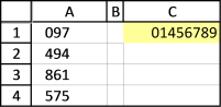 find and sort numbers - excel
