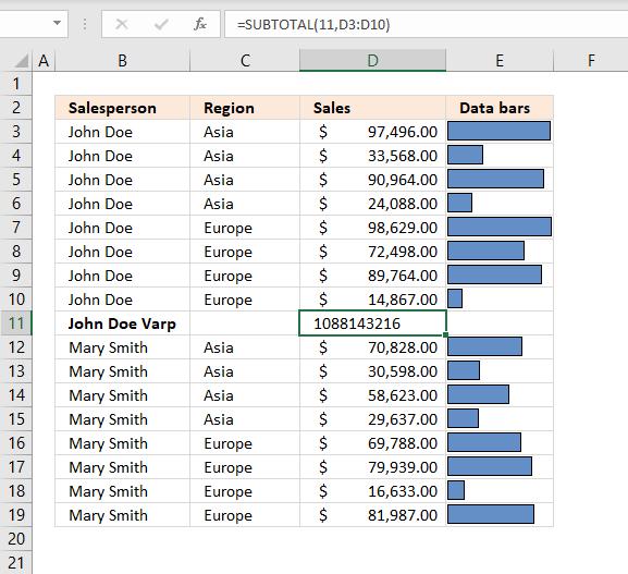 subtotal tool variance population1