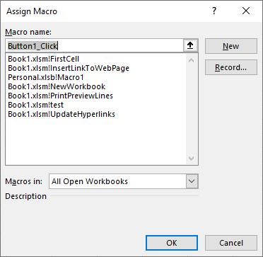 form control button assign button