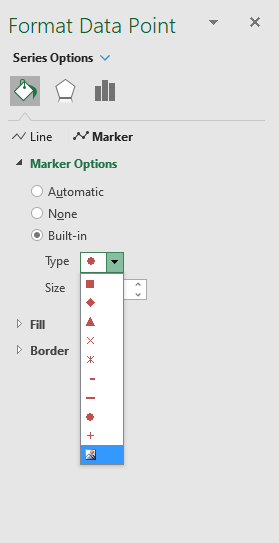 How to add pictures above chart columns add pictures