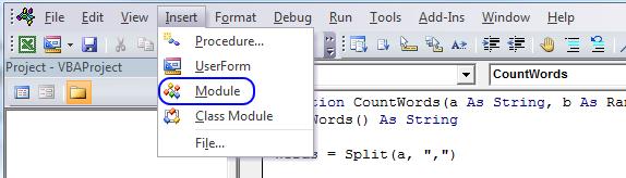 vba add module