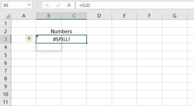 Merged cells excel 365 dynamic array formulas 1