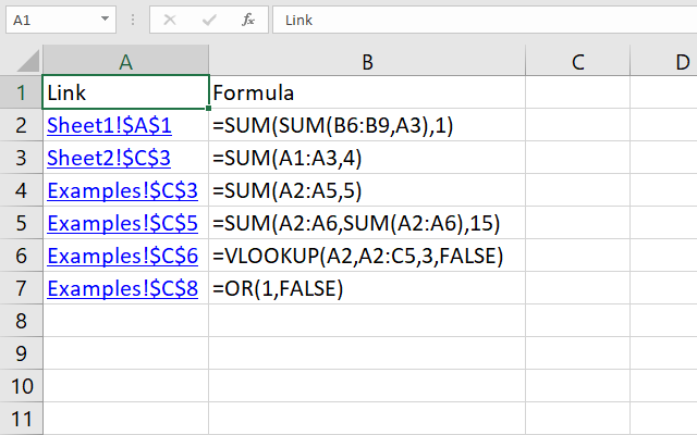 Find cells containing formulas with literal values macro