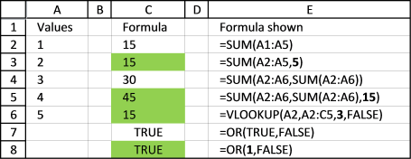 Find cells containing formulas with literal values