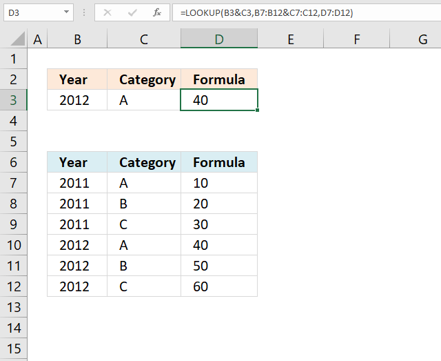 LOOKUP function multiple values