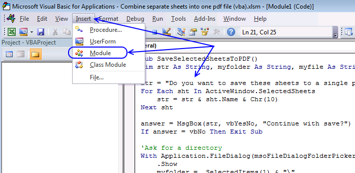save multiple excel sheets to a single pdf file3