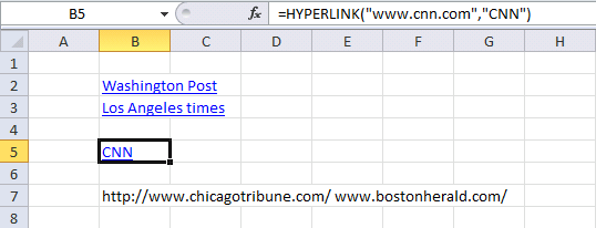 list all hyperlinks in a sheet1