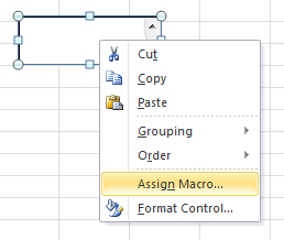 list box assign macro