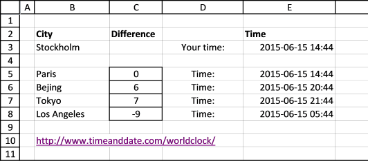 calculate time difference