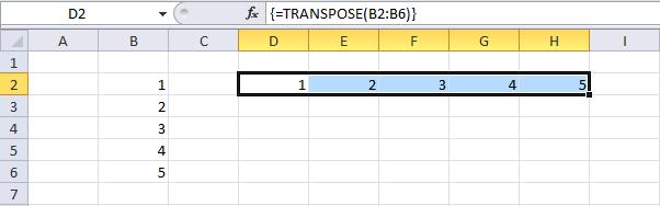 transpose function