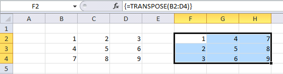 transpose function1