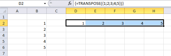 transpose function4