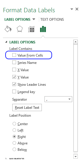 Format data labels excel 2013