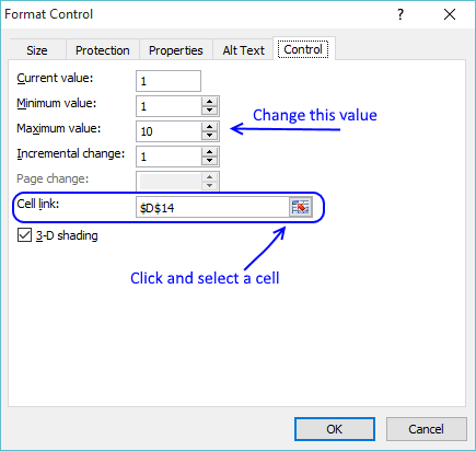 configure spinbutton form control