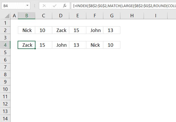 Sort items by adjacent number