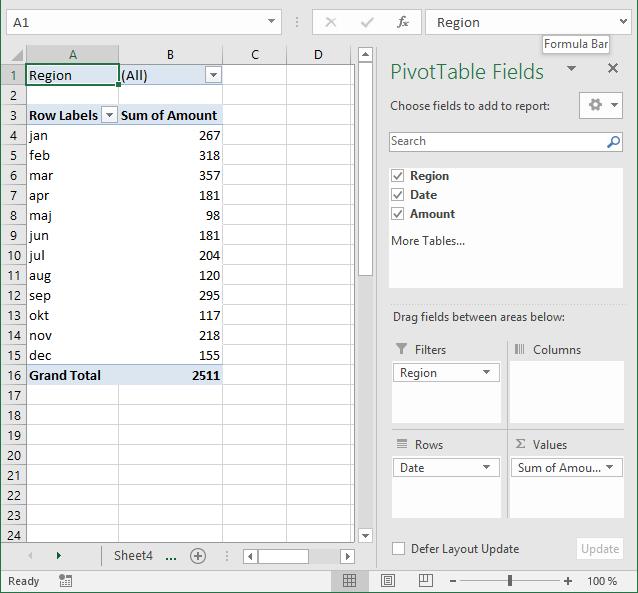 create pivot table3