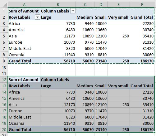 unlink pivot table4