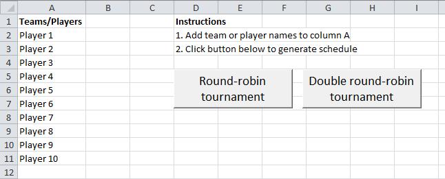 Round Robin Tournament