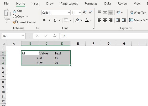 Convert Excel Table to normal range3