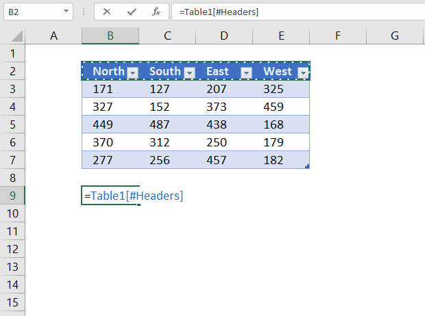 reference excel table column headers