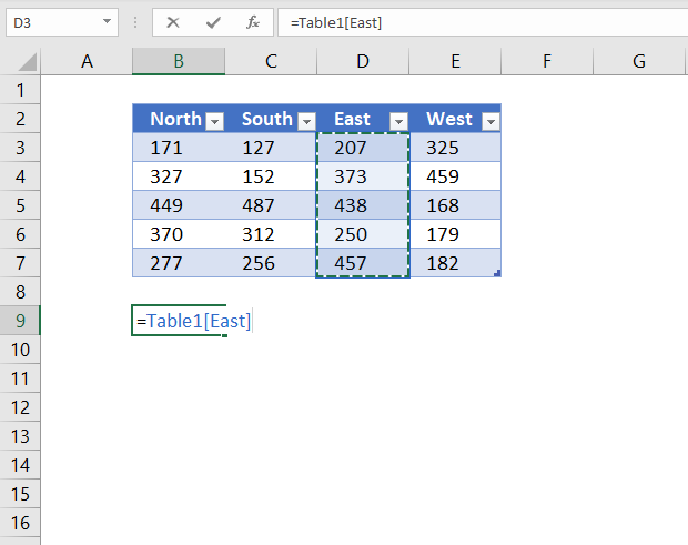 reference excel table column