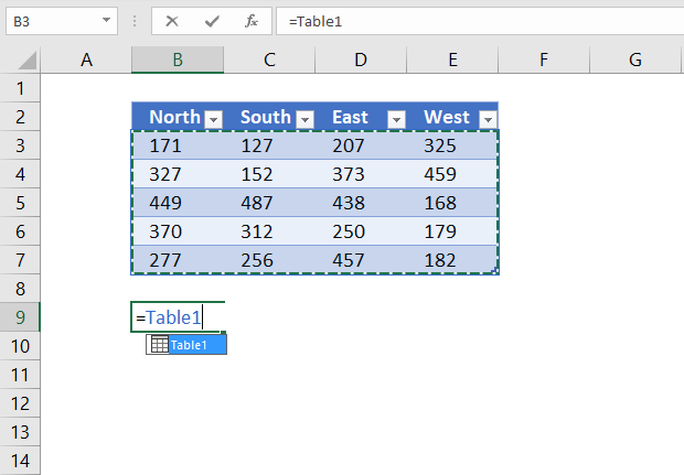 reference excel table data