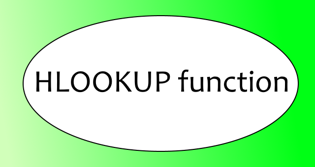 HLOOKUP function 1