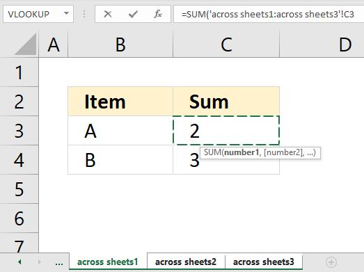 SUM function across worksheets1