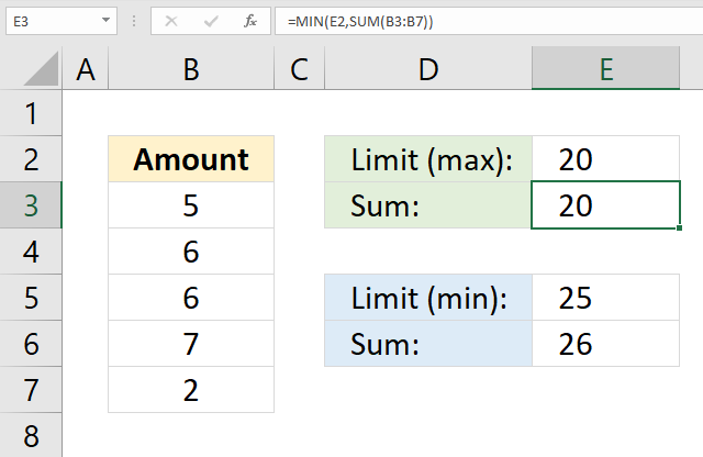 SUM function limit