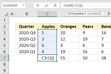 SUM function shortcut key