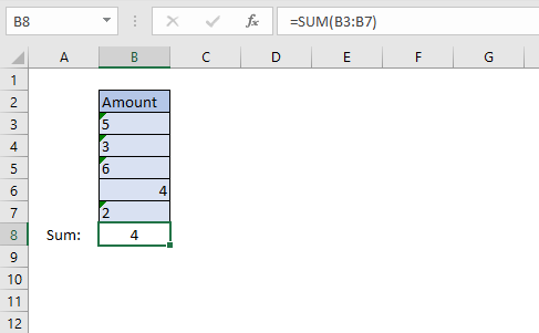 SUM function sum numbers stored as text